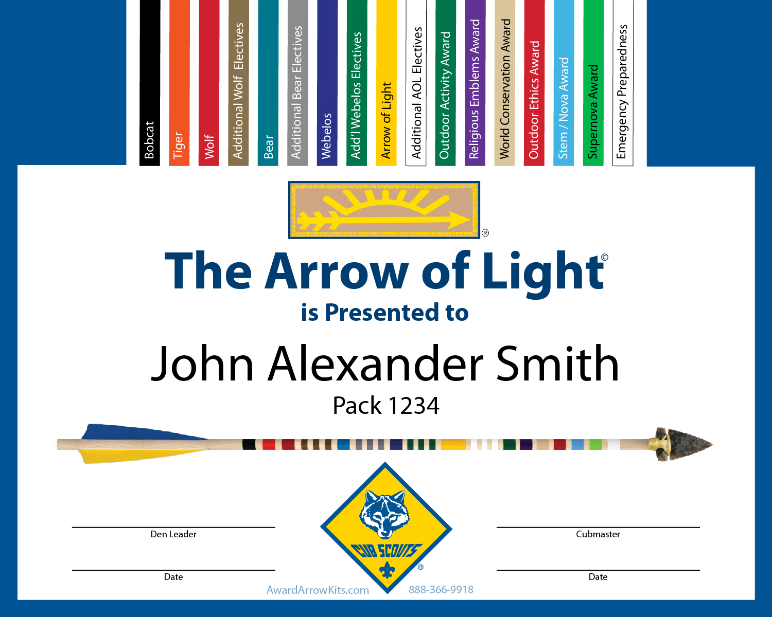Award Arrow Kits Arrow Of Light Kits With Everything You Need To