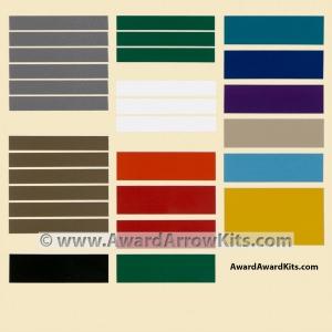 award arrow adhesive color bands to stripe 1 arrow. Black Bedroom Furniture Sets. Home Design Ideas